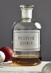 Lime Lace Festive Spirit Etched Bottle