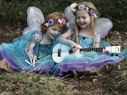Kids dressed up as fairies