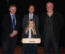 winner of the art competition, Lana Byrne