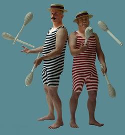 Edwardian Bathers Jugglers