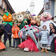 Halloween at Gulliver's Theme Parks, kids with costumed characters and mascots (thumbnail)