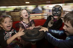 Halloween spooky ride at Gulliver's parks