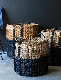 Rockett St George | giant dipped black- storage baskets