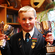 MGS pupil Sam Fitzsimons with his awards