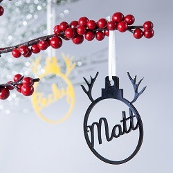 Personalised reindeer decoration by Clouds and Currents