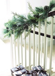 Staircase Frosted Pine Garland, X-PINGAR
