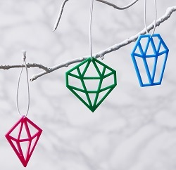 geometric colourful Christmas decorations