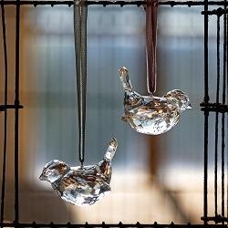 National Trust crystal bird tree decoration