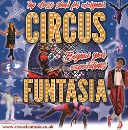 Circus Funtasia in Wythenshawe Park, 2017 flyer