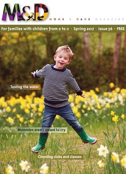 Cover for issue 56 of Mums&Dads magazine, Spring 2017