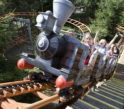 Runaway train attraction at Gulliver's theme park
