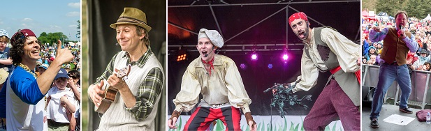 Andy Day, Cook and Line, Justin Fletcher, Mr Bloom at the Geronimo Festival