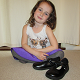 A girl with Chipmunks Paige school shoes (thumbnail)