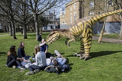 dinosaur in the park