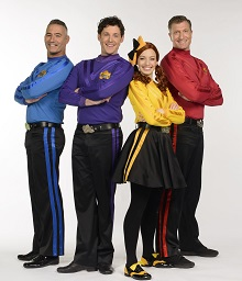 The Wiggles - Anthony Field, Lachlan Gillespie (Lachy), Emma Watkins, Simon Pryce