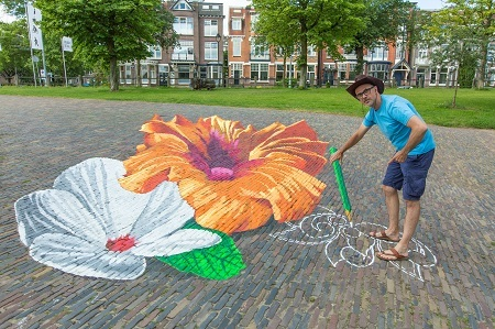 Jean Marc Navello, France | sidewalk street chalk art