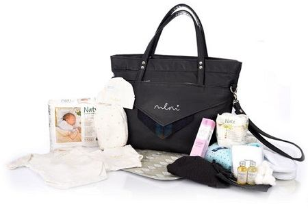 Marie Loise maternity bag with prepacked items