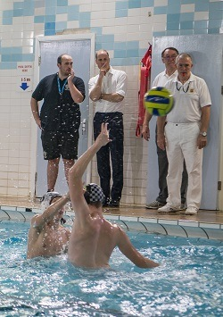 Prince William watching water polo at Bolton School   Royal Visit to Merseyside 2017
