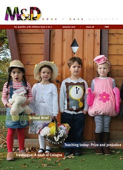 Cover for issue 58 of Mums&Dads magazine, Autumn 2017