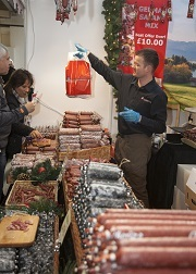 Salami and smoked sausage stoll, Artisan Christmas Market at Foodies Festival