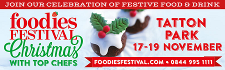 Foodies Festival at Tatton Park, Knutsford, Cheshire, Christmas 2017