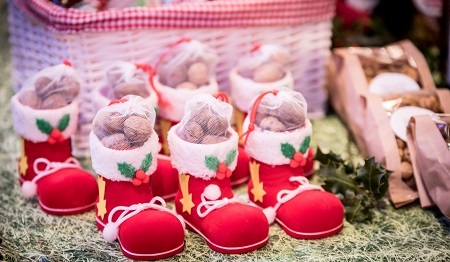 Santa boots - treats at the Artisan Christmas Market
