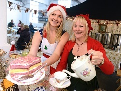 vintage tea room, Christmas Foodies Festival