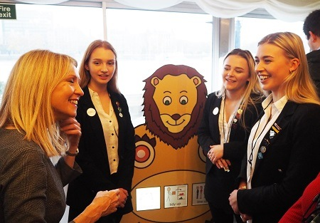 Girls AESG Engineering Team with Tatton MP Esther McVey