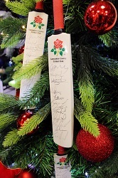 Lancashire County Cricket Club signed tree at Christmas trees display