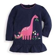 Girls' Dinosaur Applique Tunic | JoJo Maman Bébé