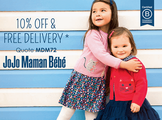 JoJo Maman Bébé Autumn and Winter 2017 kids collection and promo code for Mums&Dads