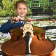 Olivia MacKenzie with her double bass