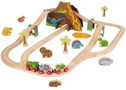 Wooden Dinosaur Train Set by Big Jigs Toys