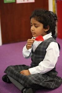 Meditating Girl | Children's Mental Health Week at MHSG
